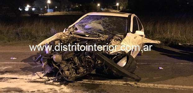UN VECINO DE NUESTRA CIUDAD PROTAGONIZÓ FUERTE ACCIDENTE EN RUTA 33
