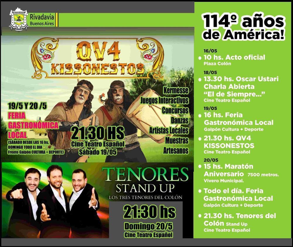 114° ANIVERSARIO DE AMÉRICA: TODAS LAS ACTIVIDADES