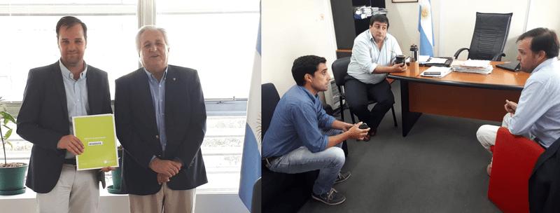 REYNOSO REALIZÓ GESTIONES EN EL MINISTERIO DE AGROINDUSTRIA BONAERENSE
