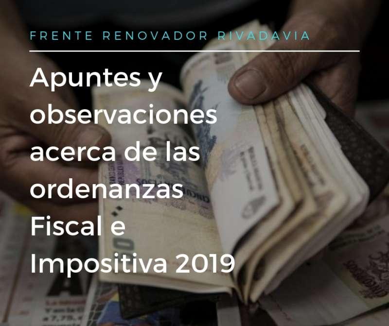 APUNTES Y CONSIDERACIONES ACERCA DE LAS ORDENANZAS FISCAL E IMPOSITIVA