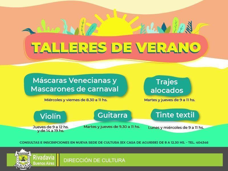 TODA LA INFORMACIÓN DE LOS TALLERES DE VERANO