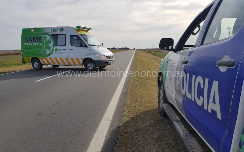 CICLISTA RIVADAVIENSE SUFRIÓ GRAVES HERIDAS EN ACCIDENTE EN RUTA 226