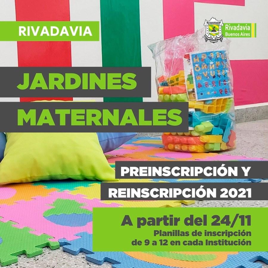 PRE-INSCRIPCIÓN A LOS JARDINES MATERNALES DE RIVADAVIA