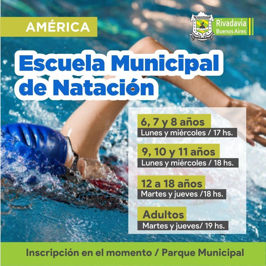COMIENZA LA ESCUELA MUNICIPAL DE NATACIÓN EN AMÉRICA