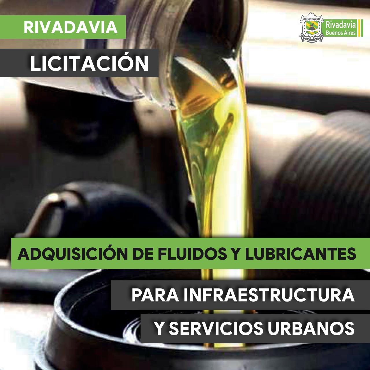 ADQUISICIÓN DE FLUIDOS Y LUBRICANTES PARA INFRAESTRUCTURA Y SERVICIOS URBANOS