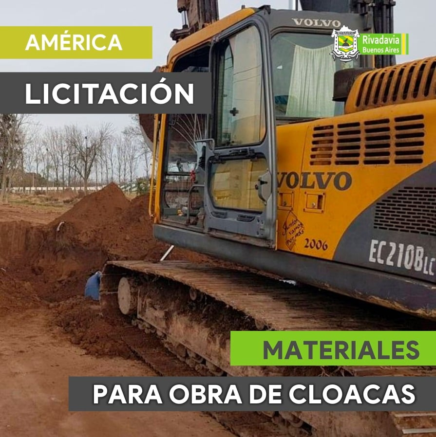 PROVISIÓN DE MATERIALES PARA LA OBRA DE CLOACAS EN AMÉRICA