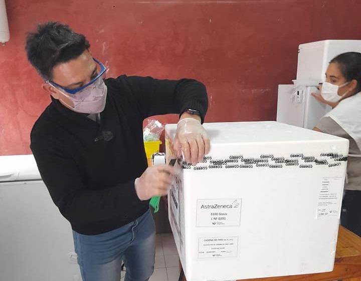 VACUNACIÓN EN RIVADAVIA: LLEGARON 3100 NUEVAS DOSIS DE ASTRAZENECA