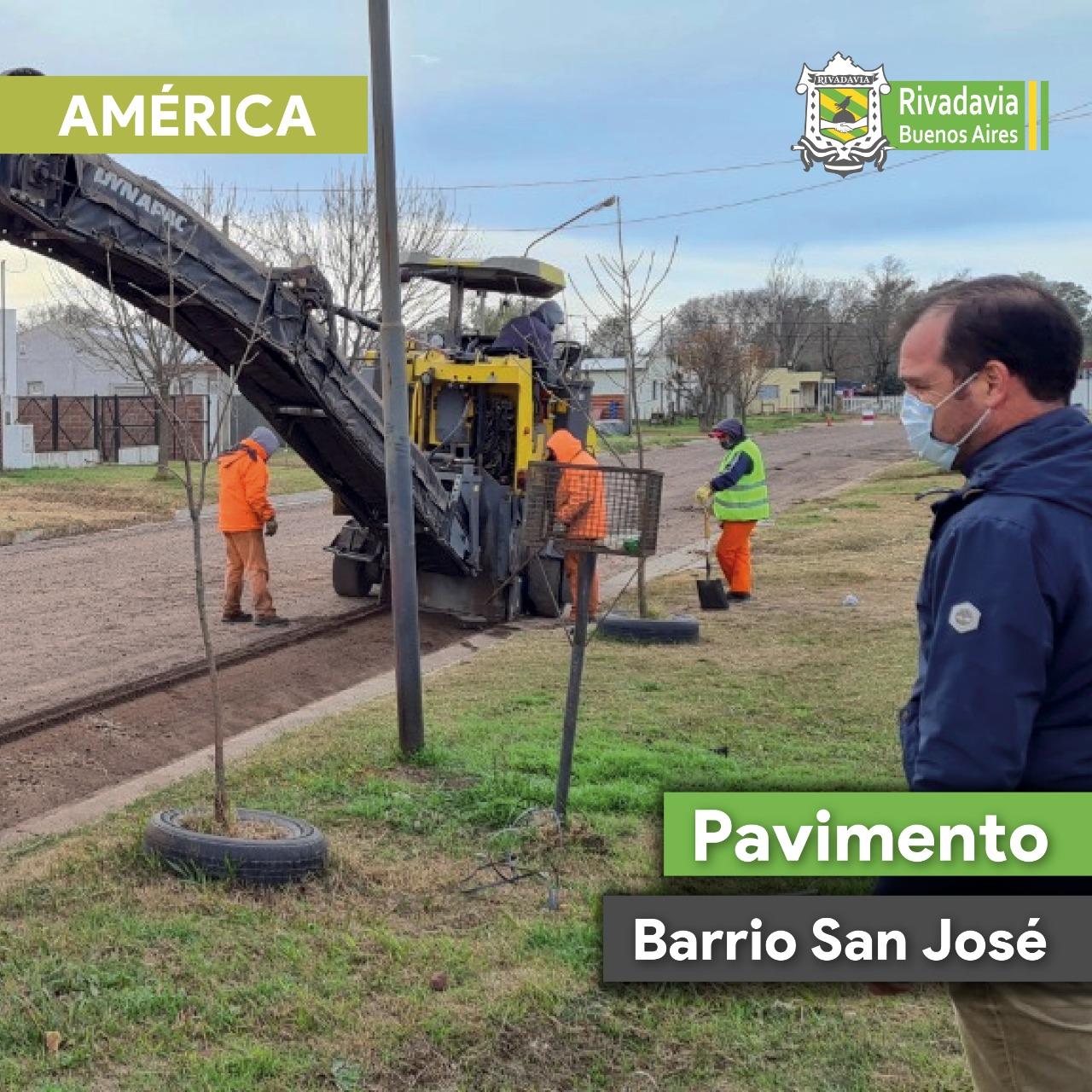 COMENZÓ LA OBRA DE ASFALTO EN EL BARRIO SAN JOSÉ DE AMÉRICA