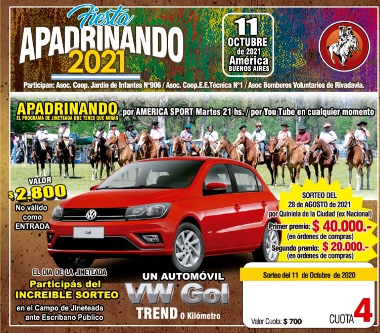 HOY, SORTEAN PREMIOS DE LA RIFA DE APADRINANDO