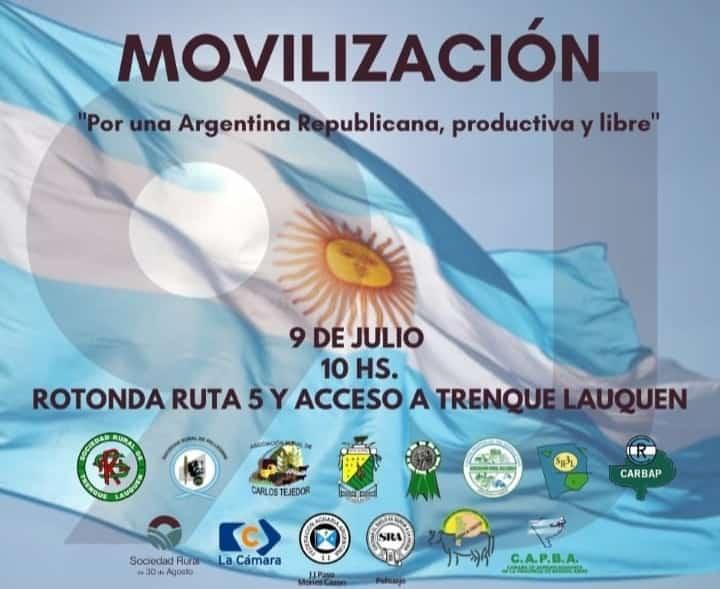 LA SOCIEDAD RURAL DE RIVADAVIA PARTICIPARÁ DE MOVILIZACIÓN