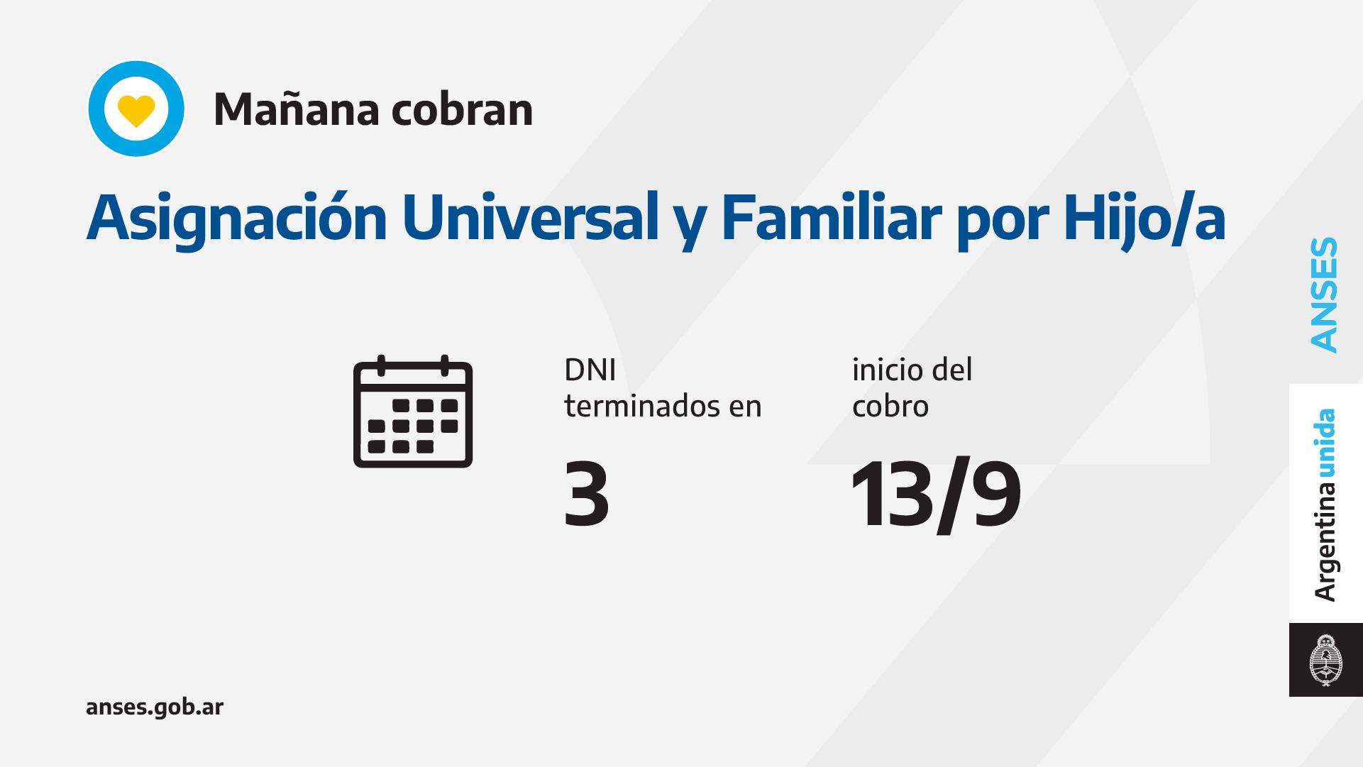 ANSES: CALENDARIOS DE PAGO DEL LUNES 13 DE SEPTIEMBRE