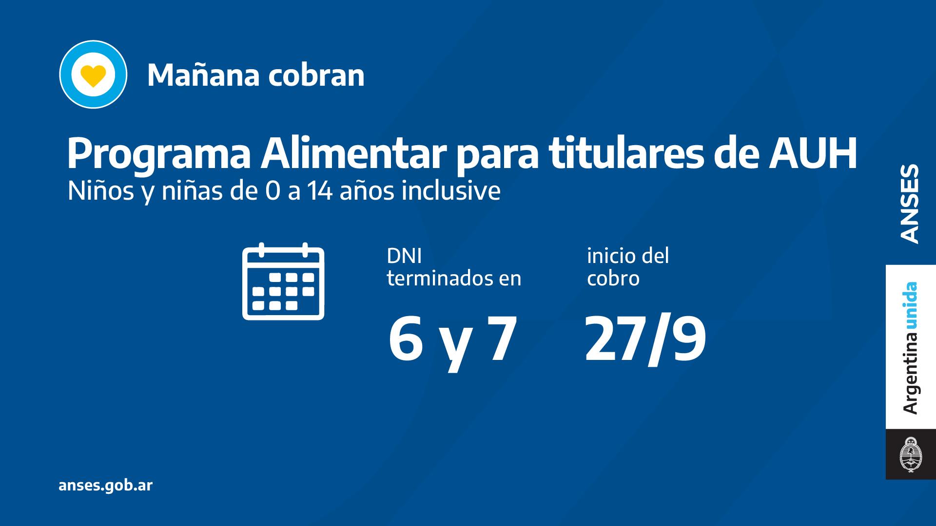 ANSES: CALENDARIOS DE PAGO DEL LUNES 27 DE SEPTIEMBRE
