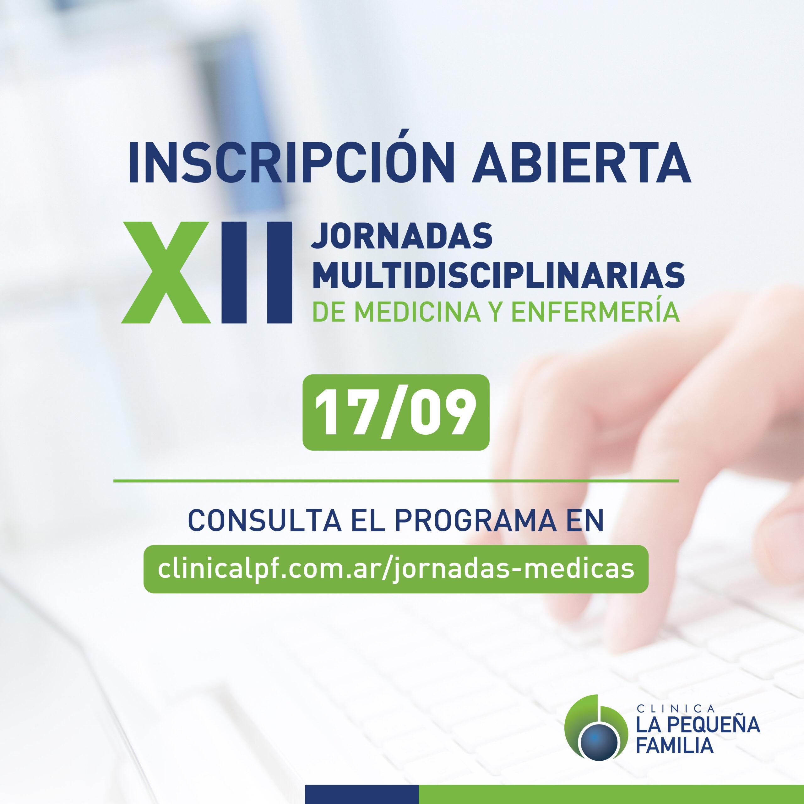 XII JORNADAS MULTIDISCIPLINARIAS DE MEDICINA Y ENFERMERÍA -EDICIÓN 2021