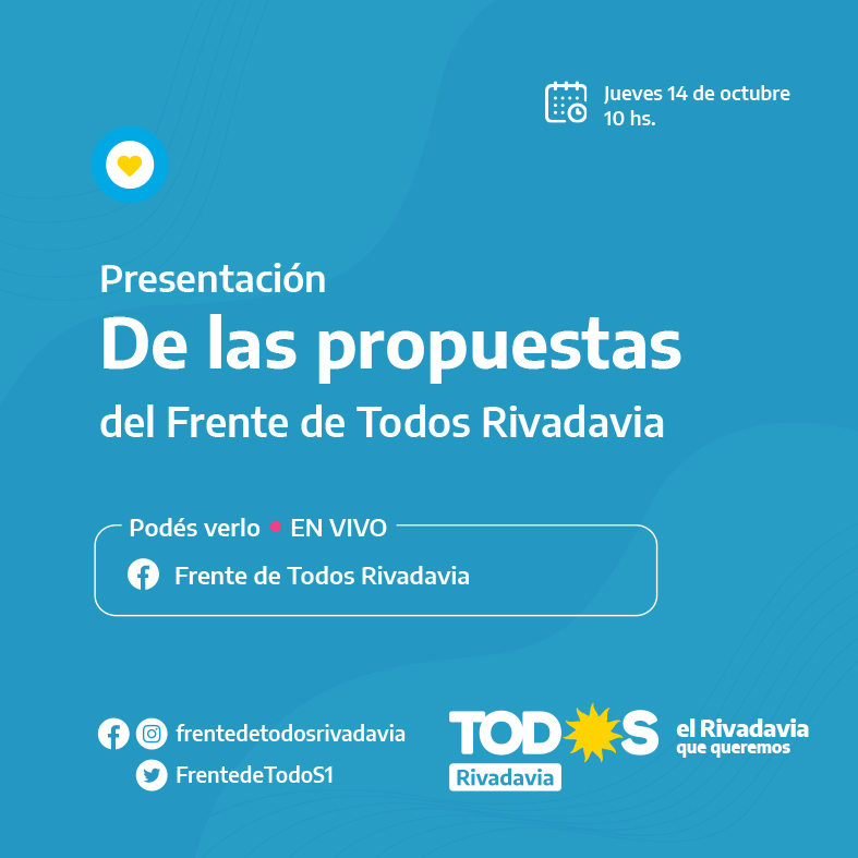 EL FRENTE DE TODOS RELANZA SU CAMPAÑA CON EL OBJETIVO DE LAS ELECCIONES GENERALES