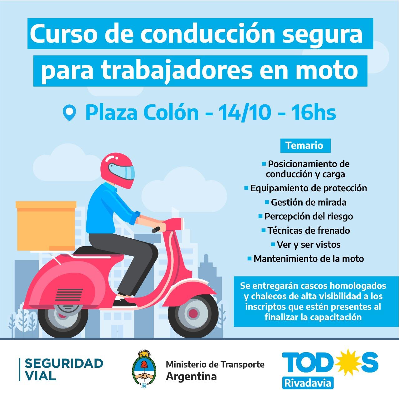 JORNADA DE SEGURIDAD VIAL: CURSO DE CONDUCCIÓN SEGURA PARA TRABAJADORES EN MOTO